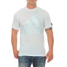 Adidas Camiseta Hombre Azul ESS camiseta Algodón Logo Algodón AY S XXL NUEVO