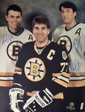 ADAM OATES RAY BOURQUE & CAM NEELY AUTOGRAPHED BOSTON BRUINS 16X20 PHOTO