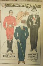 Jane Arden Sunday with Large Uncut Paper Doll from 12/23/1934 Full Size Page!