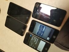 Lot of 5 Apple iPod Touch 4th Generation 8gb 16gb black as is #C19