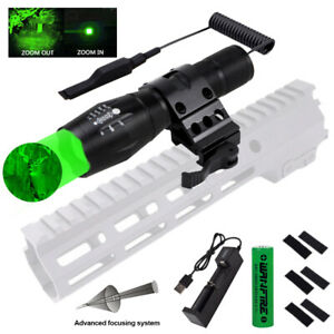 450Yard Hunting Red White Green LED Light Weapon Coyote Pig Hog Torch Flashlight