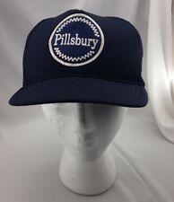 Pilsbury Vintage Madhatter Adult Hat Blue Trucker Fits All Snapback Adjustable