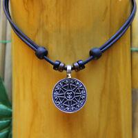 Surferkette Surferhalskette Lederkette Talisman Schutzsymbol Schutz Amulett