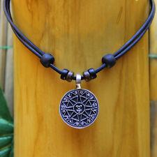 Collardeestilosurfista surferhalskette cuero cadena talismán símbolo de protección protección amuleto
