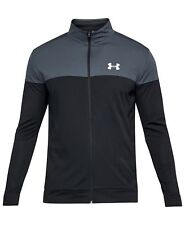 New Mens Under Armour UA Sport Style Track Jacket Grey/Black/White MSRP $50
