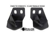 Bumper Bracket Jeep YJ Frame tie-in Mount Rear Chassis 4x4 DIY Fab NEW Wrangler
