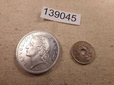 1949 5 Francs + 1936 5 Centimes France - Very Nice Album Coins - # 139045