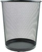 "10"" Metal Mesh Waste Paper Bin Office Bedroom Rubbish Trash Basket"