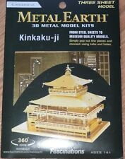 Kinkaku-Ji Metal Earth Gold 3D Metal Model Kit Fascinations MMS090G Steel