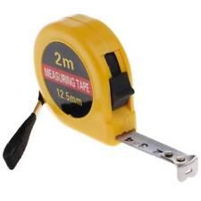 Mini Pocket Retractable Measure Tape Ruler Tool Builders Home DIY Garage 2m Rule