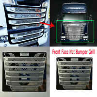 Metal Front Face Net Bumper Grill for Tamiya 1/14 Scania R730 RC Tractor Truck