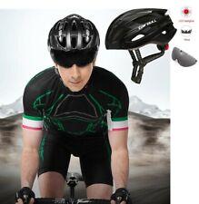 caschetto + lente occhiali da sole + led luce casco bici corsa Cairbul leggero