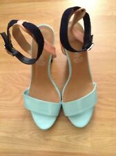 Navy/Aqua Heel Shoes, Size 6, From H&M