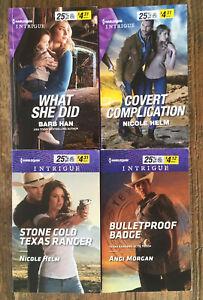 Harlequin Intrigue Suspense Books x 4 (2016-2020)