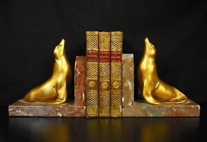 Bookends Sea Lions Gold C 1930 Bookends Buchstutze 密封大棚书