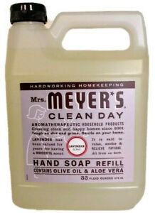 Mrs. Meyer's Clean Day Hand Soap Refill 33 Oz Lavender Scent Olive Oil Aloe Vera