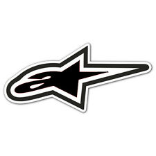 "ALPINE STARS STICKER Alpine Stars Small Motorcycle MX ATV BMX 3"" x 1.25"" Decal"