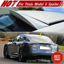 Painted For Tesla Model S 4DR K Style Rear Roof Window Lip Spoiler 2017 P100D