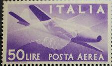1957 Repubblica Italiana Democratica Posta Aerea  50 Lire stelle  singolo  MNH**
