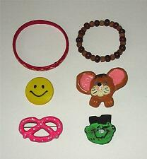 SIX ASSORTED PINS & BRACELETS FOR LITTLE GIRLS
