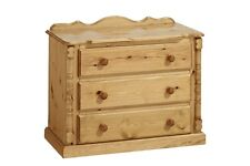 PINE FURNITURE SANDRINGHAM 3 DRAWER CHEST NO ASSEMBLY REQUIRED!!!