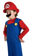Super MARIO Official Nintendo Costume Child Boy's size 4/6 NeW Red Hat Mustache