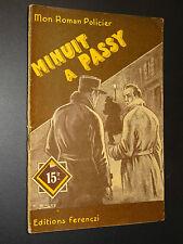 MON ROMAN POLICIER n°177 - J. Joseph-Renaud - MINUIT A PASSY - 1951