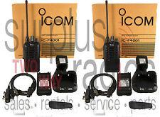 Icom F4001 UHF Radios 4W 16CH High Power Long Range Retail Bar Nightclub Staff