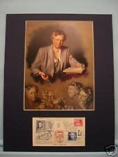 Eleanor Roosevelt & her autograph on First Day Cover of the FDR stamp with COA