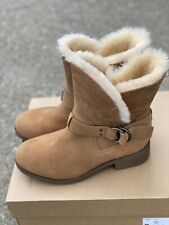 UGG Bodie Boots Chestnut Brown Size 8 Women's Sheepskin Waterproof