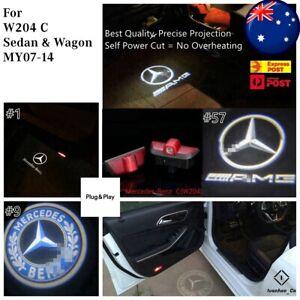 2x Logo Courtesy Door Puddle Lights for Mercedes Benz W204 C Class Sedan Wagon