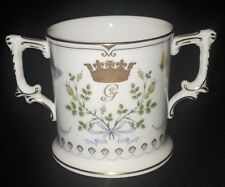 ROYAL CROWN DERBY 2 HANDLE/LOVING CUP BIRTH OF PRINCE GEORGE