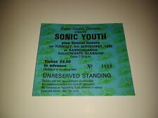 RARE 1990 SONIC YOUTH Concert Ticket / Glasgow Barrowland