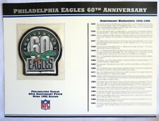 PHILADELPHIA EAGLES 60TH ANNIVERSARY Willabee Ward NFL PATCH INFO STAT CARD 1992