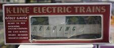 Vintage O Scale K-Line K6543 Reading Classic Gondola Car