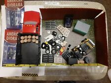 1:24 SCALE GAS STATION JUNK YARD MODEL DIORAMA FORKLIFT ACCESSORIES TRUCK LOT