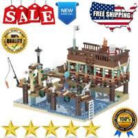 Building Blocks Set MOC 30101 The Old Fishing House Pier Model DIY Toys for Kids