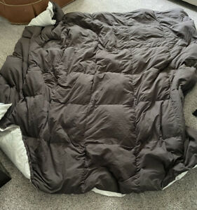 Solid double sided Color Brown/ Tan Bed Comforter Polyester Fill Full size