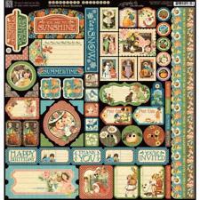 "Graphic 45 Childrens Hour 12x12"" Sticker Sheet - Scrapbooking Embelishments"