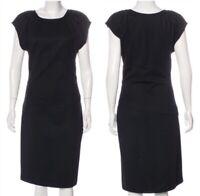 Diane Von Furstenberg DVF THANE Black Wool Blend Midi Dress SZ 8