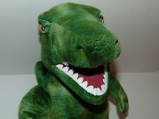 "Build A Bear Bab 16"" Green T-Rex Dinosaur Dino with heartbeat and roar Preowned"