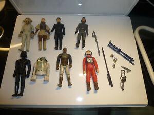 lot 8 Figurines vintage star wars Kenner avec quelques accessoires armes