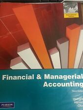 Financial & Managerial Accounting Paperback – by Charles T. Horngre, 2012 3rd ed