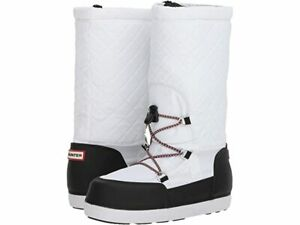 NEW Hunter Original Quilted Snow Boots, White - MSRP $255.00!
