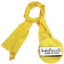New ITALO FERRETTI Yellow Polka Dot Woven 100% Silk Scarf Shawl Wrap NIB $495