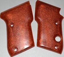 Beretta M21 Bobcat pistol grips red with gold fleck plastic