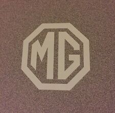 MG Emblem Logo Decal Sticker Midget WHITE 3""