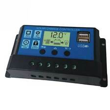 PWM 30A Solar Charge Controller 12V 24V LCD Display Dual USB - Ship from USA