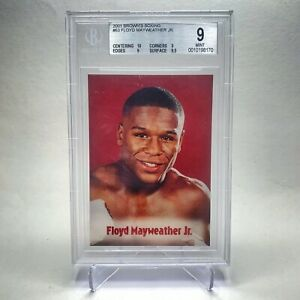2001 Brown's Boxing FLOYD MAYWEATHER JR BGS 9 W/ 10 Centering Rookie🔥POP 2🔥📈