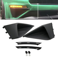 Black Front Bumper Air Intake Trim Cover Decoration for Ford Mustang Roush 2018+